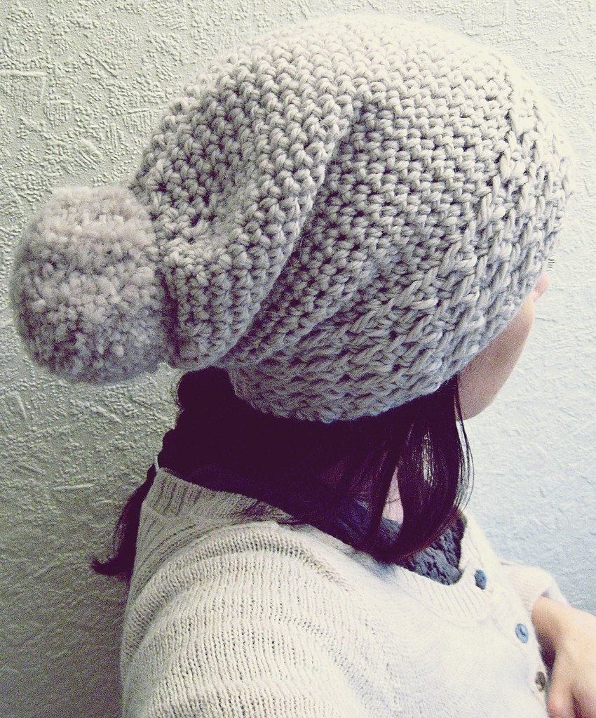 Slouchy crocheted hat (free pattern) free how-to ...
