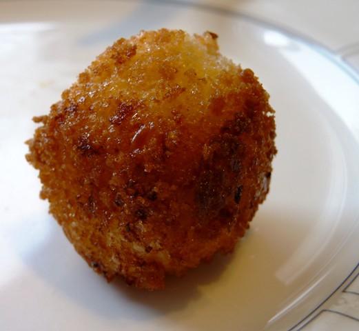 Leftover grits-polenta balls | Leftover cheese grits became ...