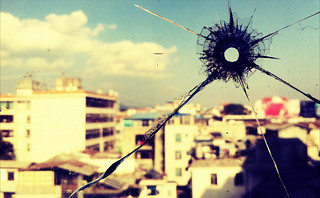 Bullet Hole in my Window :: iPhone | by Jonathan Kos-Read