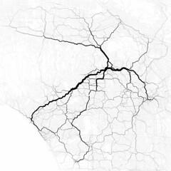 Paths through Los Angeles