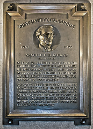 Telegraph Centennial Plaque | by USCapitol