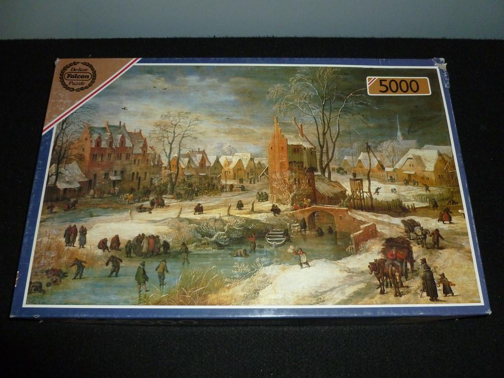 5000 piece puzzle village in winter frans de momper fal. Black Bedroom Furniture Sets. Home Design Ideas