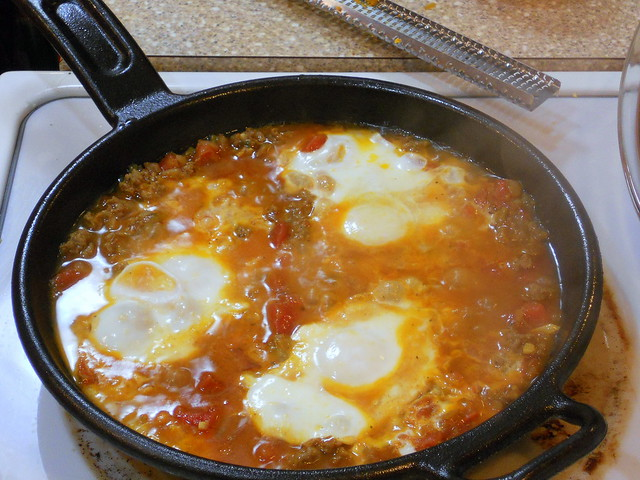 Moroccan Merguez Ragout with Poached Eggs | Flickr - Photo Sharing!