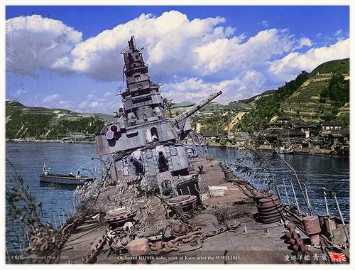 the battered and sunken hulk of the japanese heavy cruiser� flickr