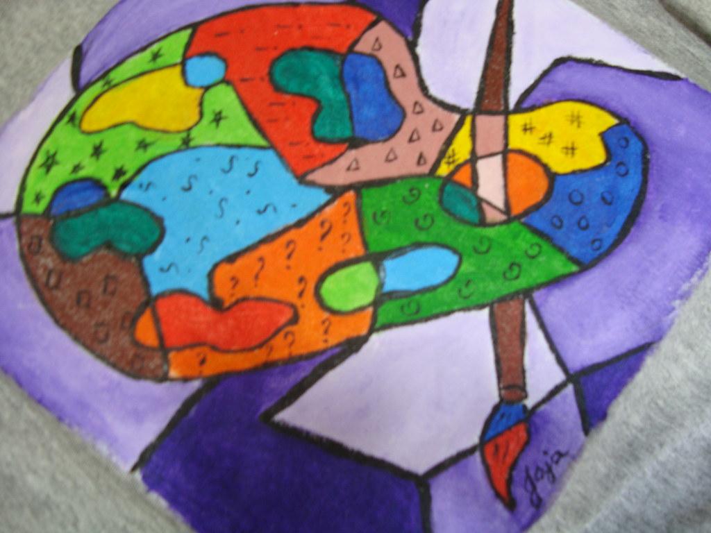 Paleta paleta de pintura releitura de romero britto - Paleta de pinturas ...