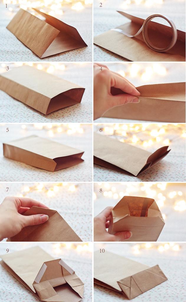 Пакет из бумаги крафт своими руками