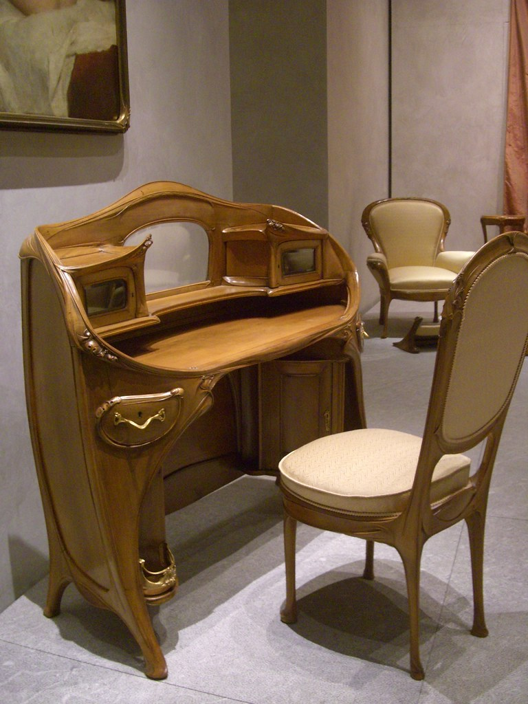 hector guimard mobilier mus e des beaux arts lyon 69 flickr. Black Bedroom Furniture Sets. Home Design Ideas