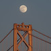 Moon over the Bay Bridge