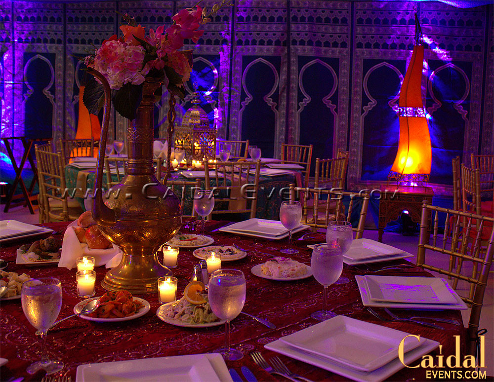 Moroccan jewish henna wedding at temple sinai 10 for Arabian nights party decoration ideas