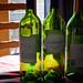 Wine Bottles in the Sun