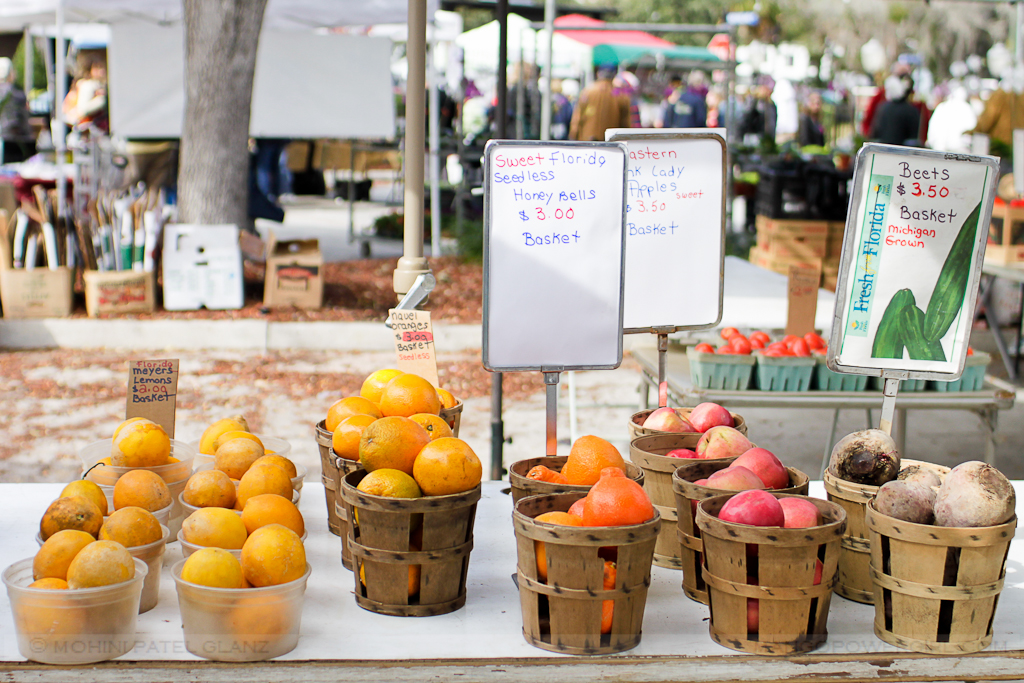 citrus, etc. at winter park farmers market, florida