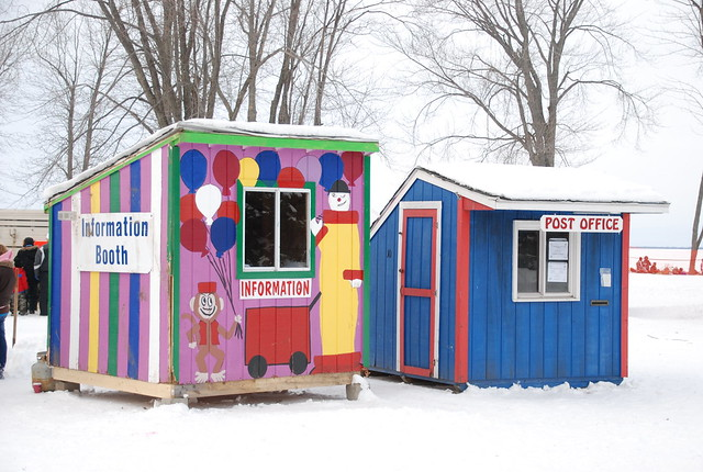 Information Booth And Temporary Post Office At Tip Up Town
