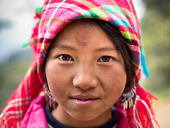 A Black Hmong girl named Po, Sa Pa