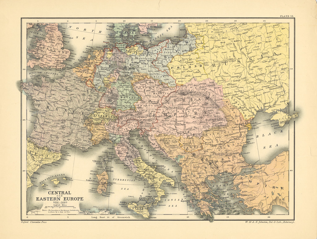 Map Page Of Section Xiii Europe 1814 1863 From Part Xx Of