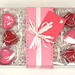 Valentine's gift box - pink and red shaped hearts
