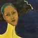amy pieterse. self-portrait. detail 2. (oil paint, thread)