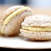 Hazelnut Macaron with Popcorn Cream filling