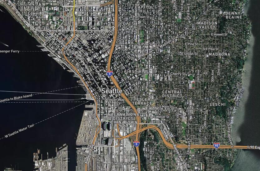 Seattle, Washington - overall shot