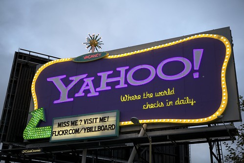 The Yahoo! Billboard Sign, San Francisco (at dusk) | by Schill