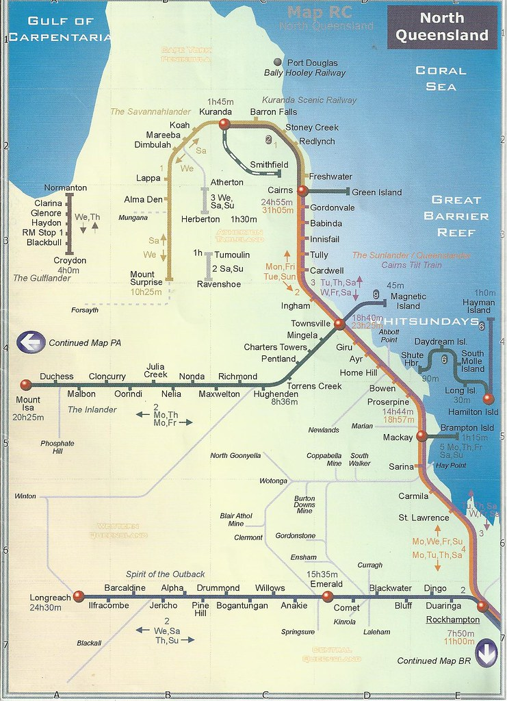 Train Travel Map Of North Queensland In 2004 John Coyle S