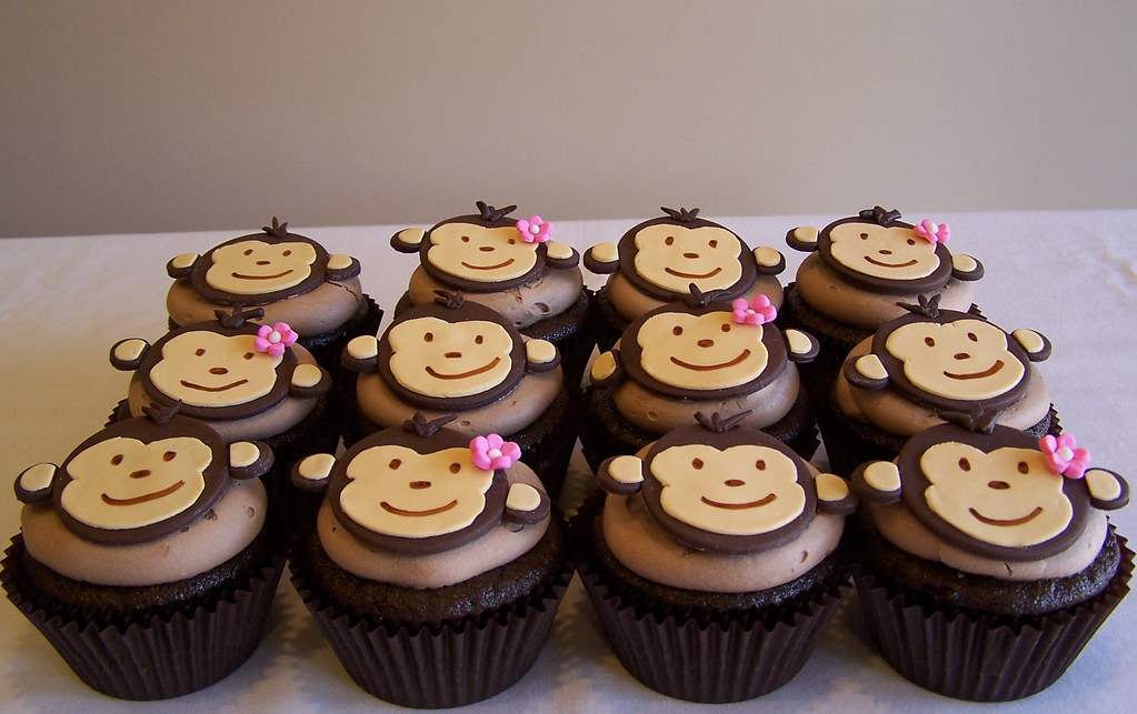 Monkey Cupcakes Beth Flickr