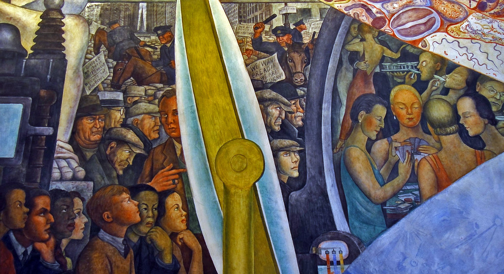 Occupy wall street ca 1934 today is the 125th for Diego rivera mural at rockefeller center