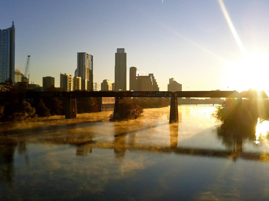 Sunrise over Austin means a new morning ritual