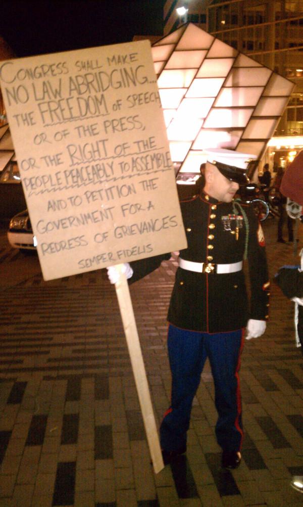 Occupy Boston Marine