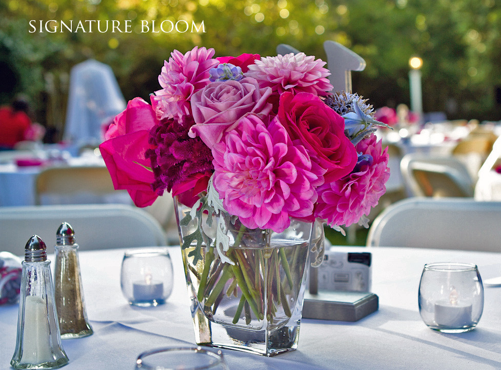 Wedding flowers fremont pink centerpieces if you are