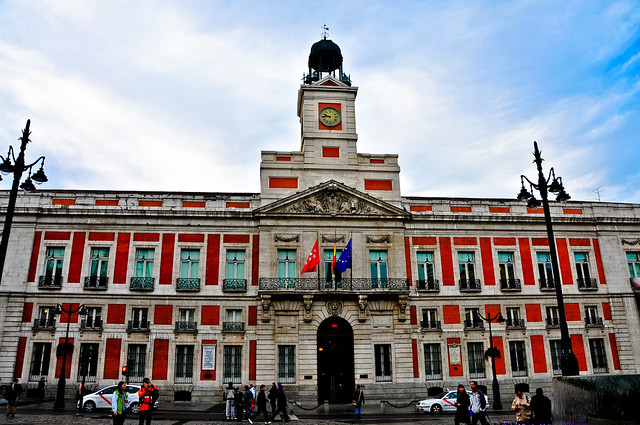 Casa De Correos At Puerta Del Sol Madrid Spain Now The
