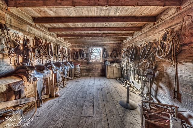 Tack Room At The Sauer Beckmann Living History Farm On