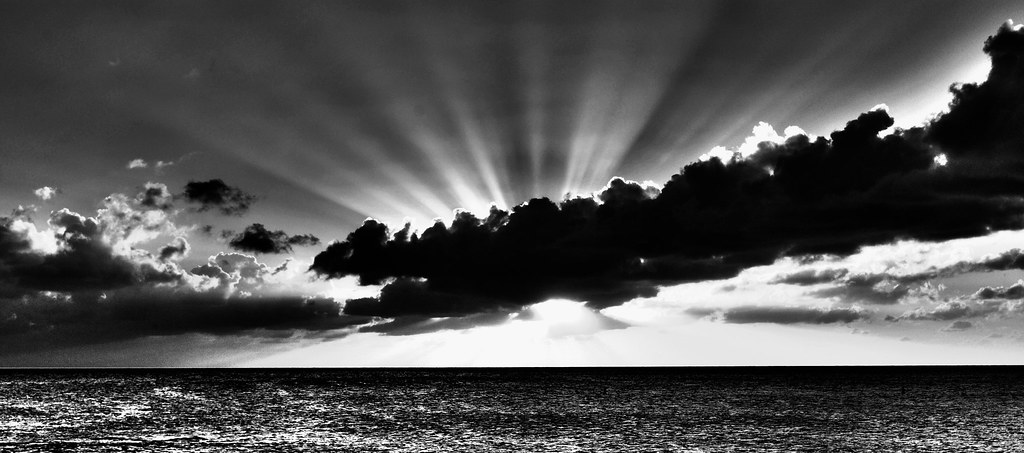 Sunset Black & Whi...