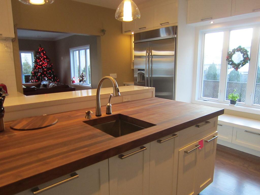 Butcher Block Kitchen Island With Sink : Butcher Block island sink. Delta Pillar Faucet Delta Touch? Flickr