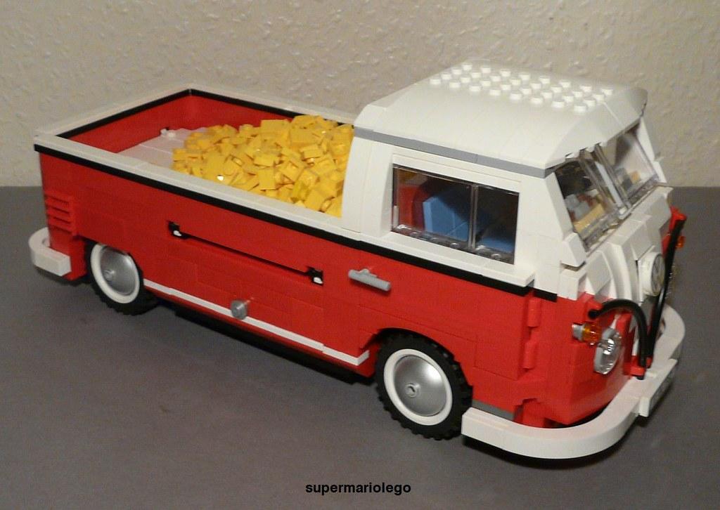 lego vw t1 pickup lego vw t1 pickup transporter made of le flickr. Black Bedroom Furniture Sets. Home Design Ideas
