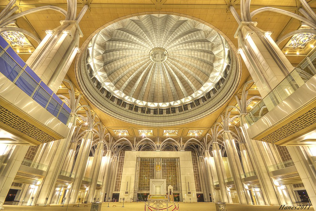 interior of masjid besi tuanku mizan zainal abidin mosqu