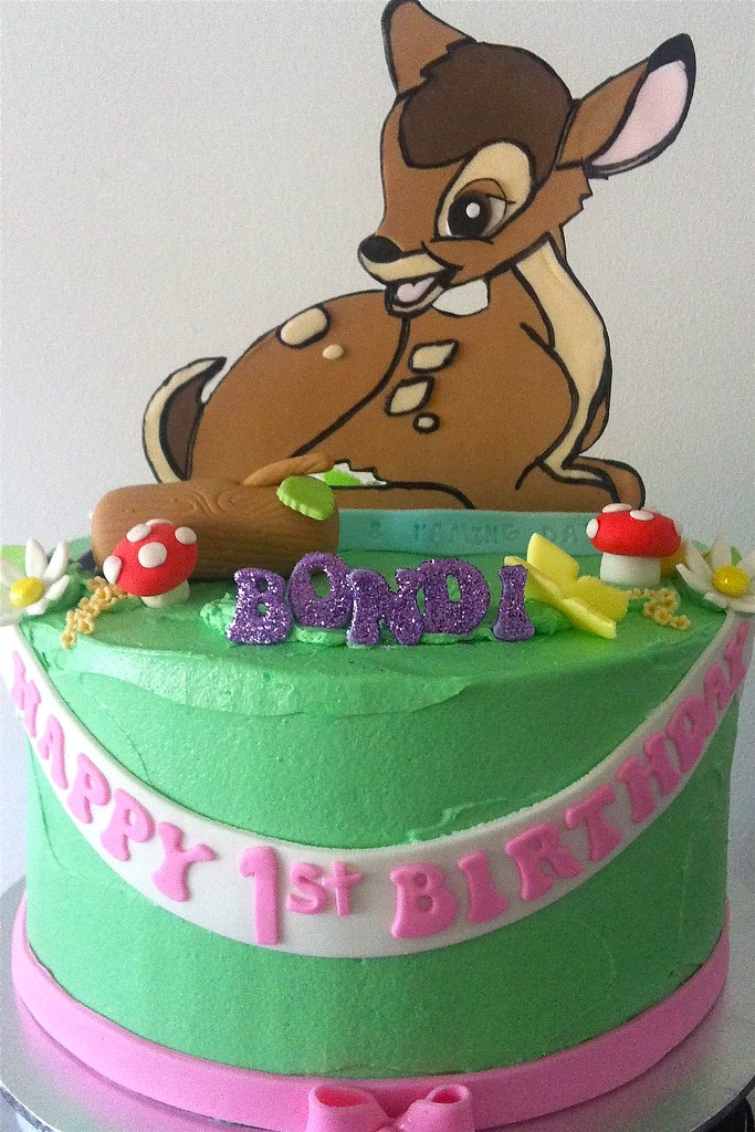 Bambi Cake Kid Friendly Choc Cake With Choc Frosting