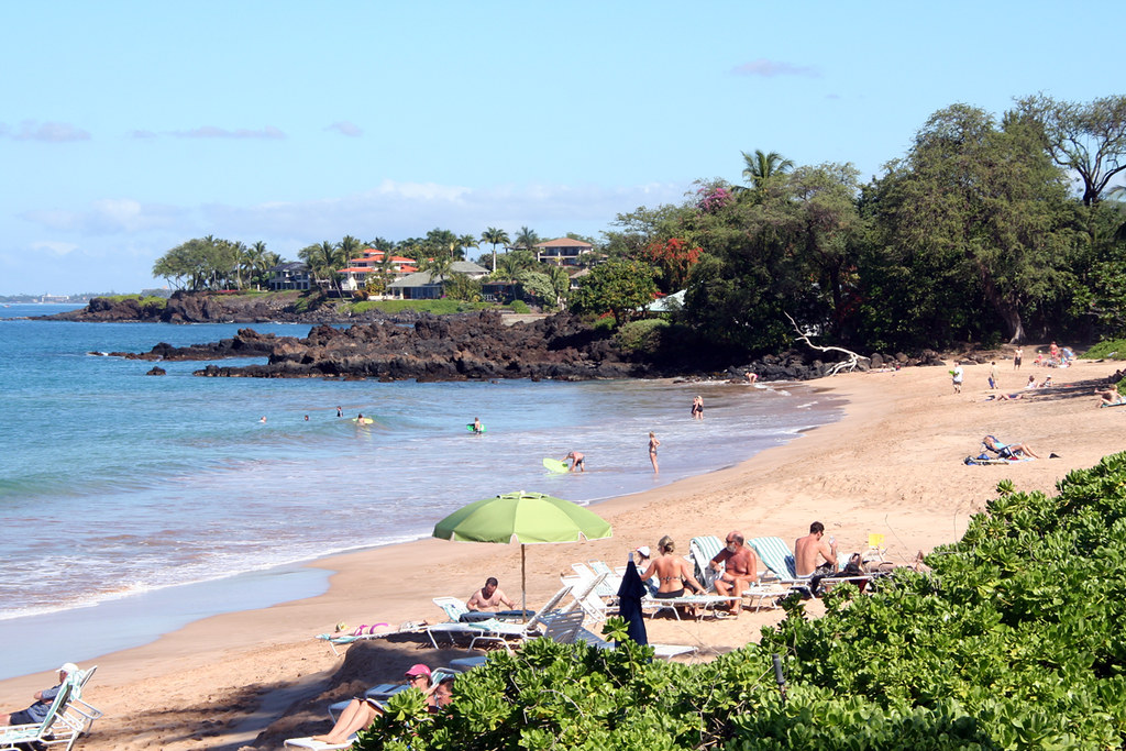 Maluaka Beach in front of Makena Resort