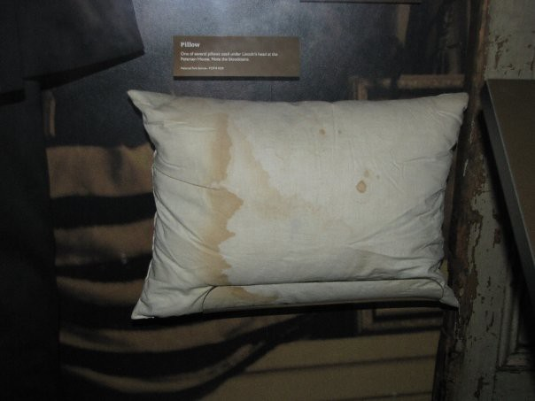 abraham lincolns final pillow blood stained pillow from