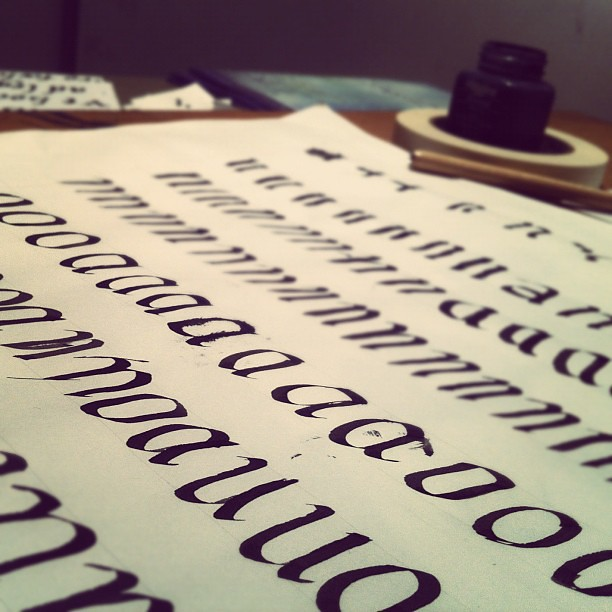 Calligraphy Class Week One Steve Mcfarland Flickr