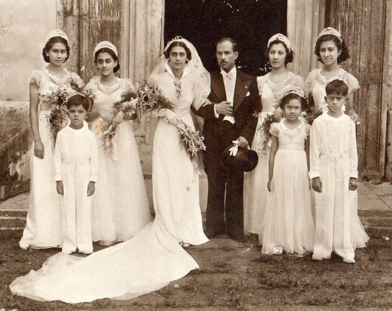 Typical Goan Wedding Early 1900's