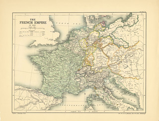 Map page of Section LIX The French Empire in 1810 from Part XXV of Historical atlas of modern Europe from the decline of the Roman empire : comprising also maps of parts of Asia and of the New world connected with European history | by uconnlibrariesmagic