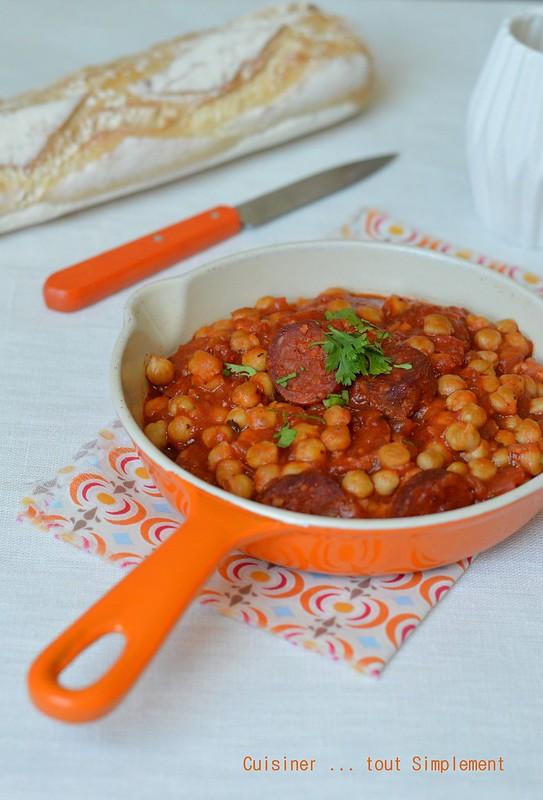 Pois chiches au chorizo cuisiner tout simplement le - Cuisiner des pois chiches ...