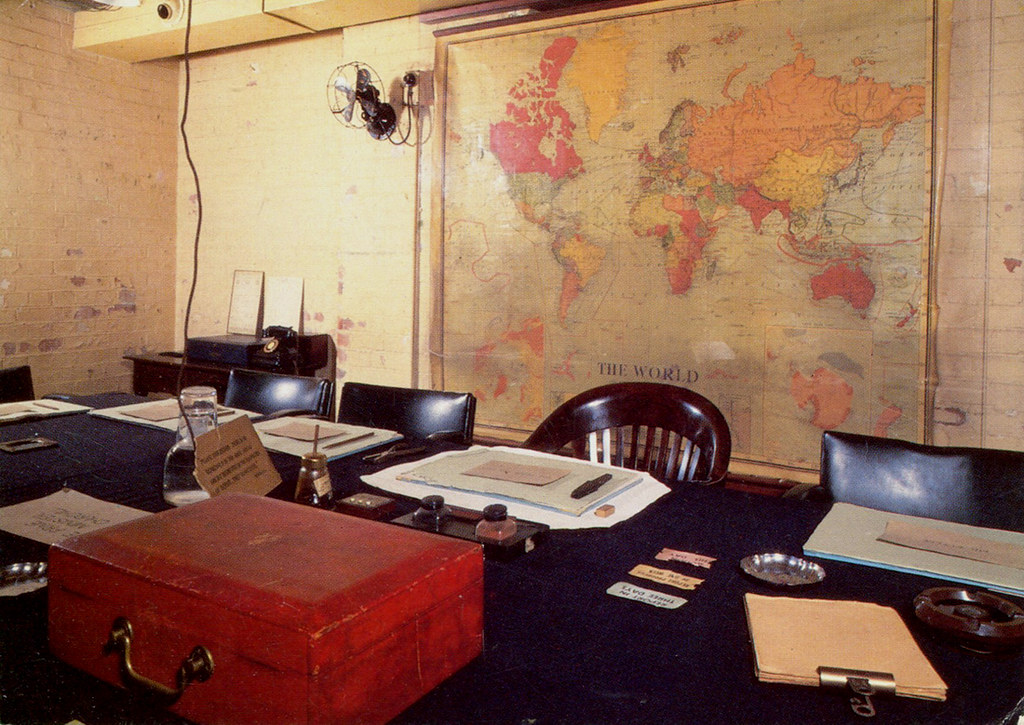 London cabinet war rooms 1 postcard the cabinet room flickr - Churchill war cabinet rooms ...