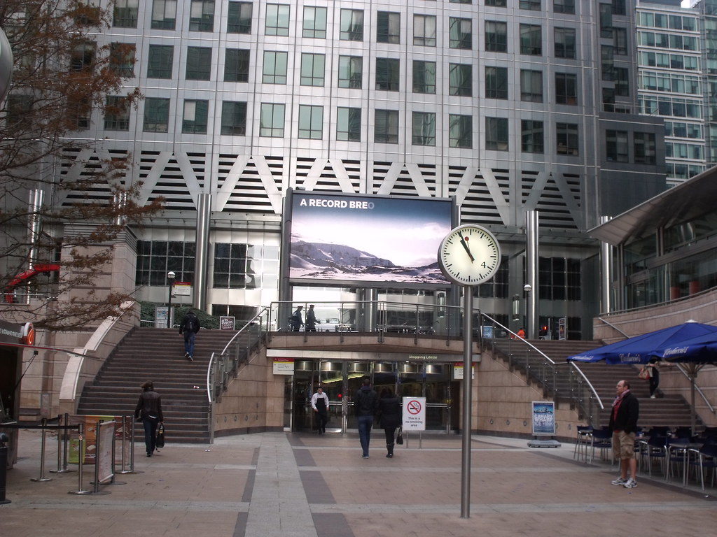 Canary Wharf One Canada Square Stairs Billboard A