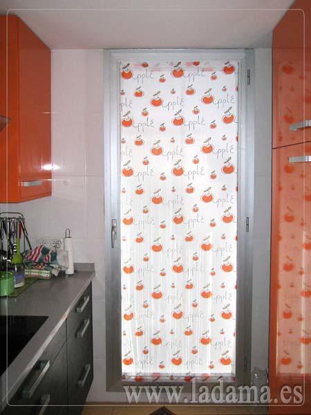 Visillo para puerta de cocina naranja visita nuestra web - Cortinas para puertas de cocina ...