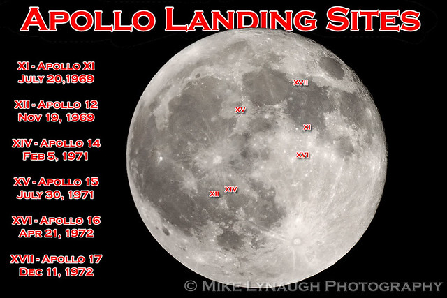 NASA - Apollo landing sites - Full Moon - 12/11/11 ...