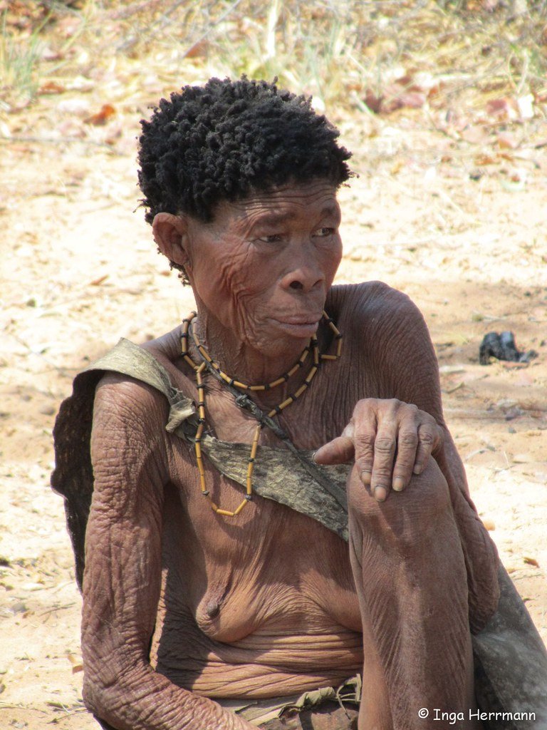 San People Bushmen Kalahari Otjozondjupa Namibia