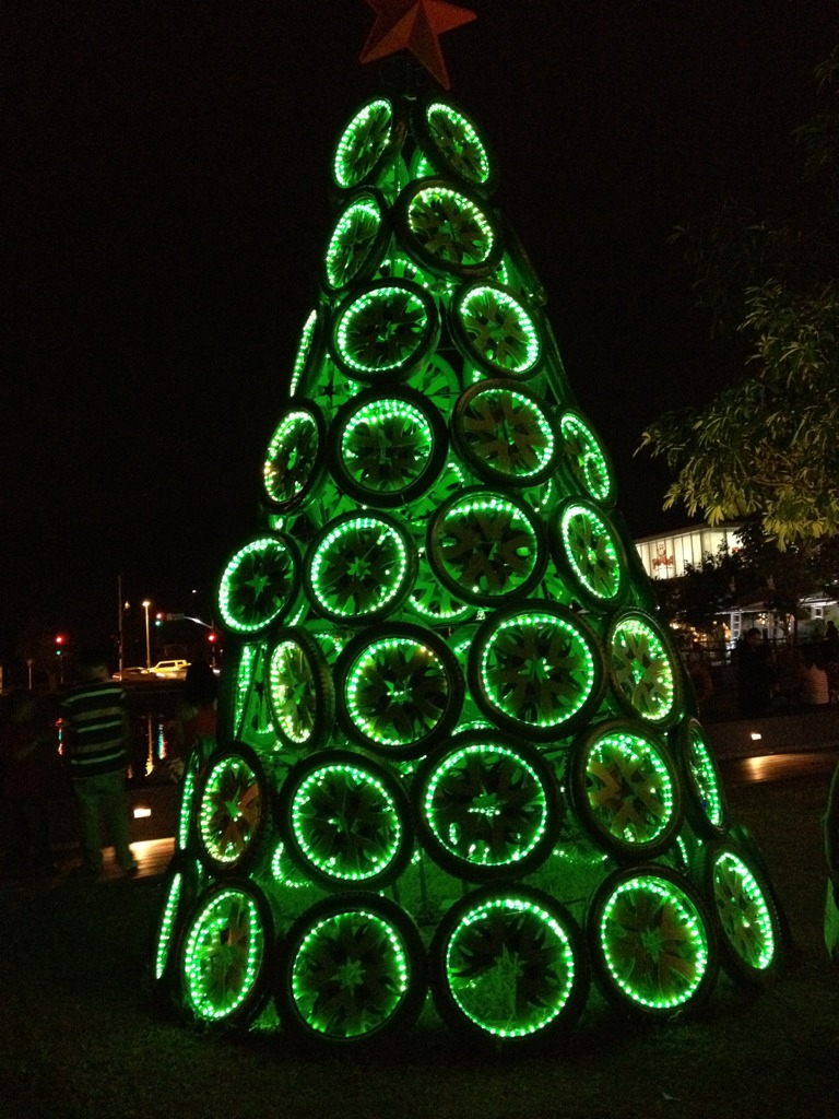 Anyone for a tire Christmas tree? | Posted from Twitter via … | Flickr
