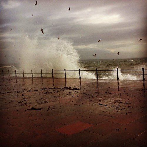 Penzance promenade stormy December | by tamsin26
