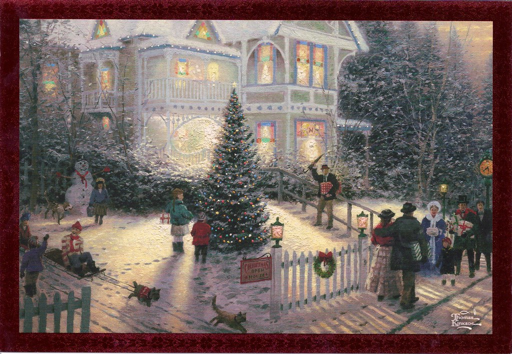 Thomas Kinkade Victorian Christmas Christmas Card